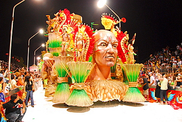 Dancers at Gualeguaychu carnival, Entre Rios province, Argentina