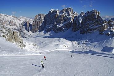 Lagazuoi ski area, Dolomites, Italy