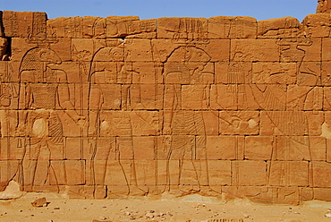 Lion Temple featuring etchings of the Lion-god Apedemak, Naga, Sudan, Africa
