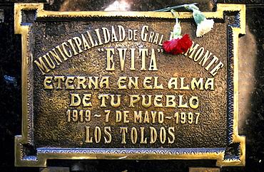 Eva Peron's grave, Evita, Recoleta Cemetery, Buenos Aires, Argentina