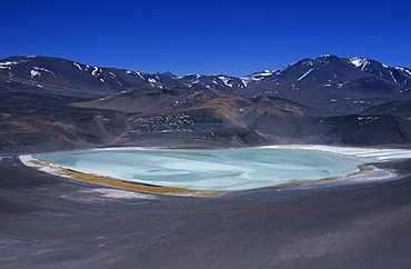 Salt lake in the Argentinean Puna near Socompa, Salta Province, Argentina