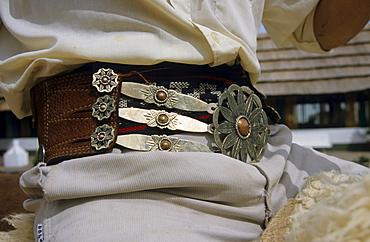 Gaucho or Argentinian cowboy's belt, San Antonio de Areco, Buenos Aires Province, Argentina