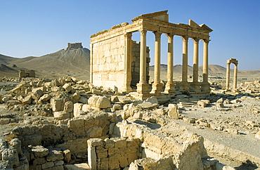 Roman temple ruins, Palmyra, Syria, Middle East