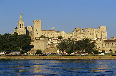 Papal Palace in Avignon, Provence, France