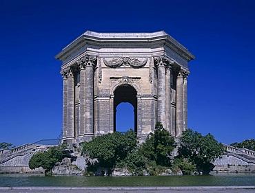 Chateau d Eau at Place de Peyrou, Montpellier, Dept. Herault, Languedoc-Roussillon, France