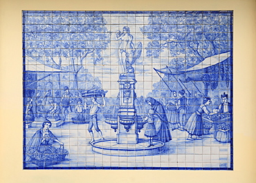 Azulejo mosaic in Funchal, Portugal, Madeira