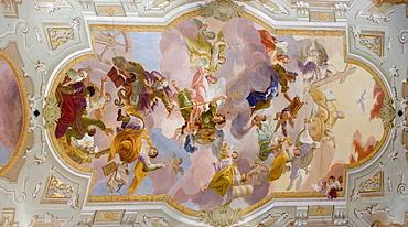 Fresco Paiting, Church of Pilgrim Sonntagberg, Austria, Lower Austria, Mostviertel Region