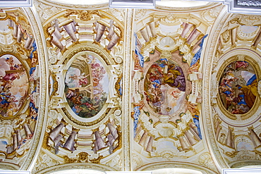Fresco painting in Convent St. Florian, St. Florian, Upper Austria, Austria