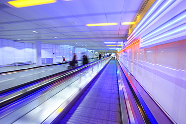Moving walkway (moveator) at Munich International Airport, Munich, Bavaria, Germany