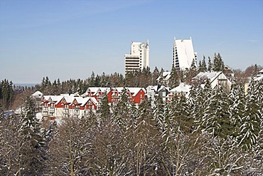 Panorama hotel in Oberhof, Thuringian Forest, Thuringia, Germany