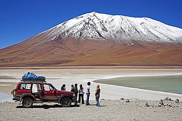Young travellers, Laguna Verde, Bolivia near the border to Chile, South America