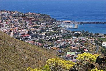 View to the capital San Sebastian and its port, La Gomera Island, Canary Islands, Spain, Europe