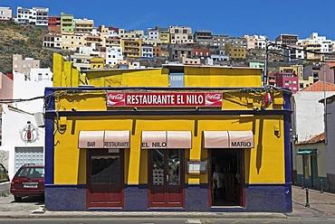 Restaurant in the capital San Sebastian, La Gomera Island, Canary Islands, Spain, Europe