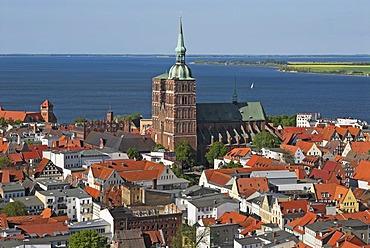 Hanseatic city of Stralsund, Mecklenburg Western Pomerania, Germany, Europe