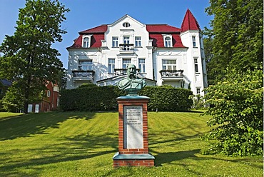 Historic villa Staudt in Heringsdorf, Usedom island, Mecklenburg Western Pomerania, Germany, Europe