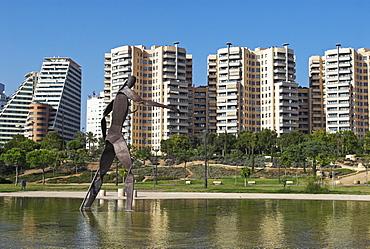 Modern residential quarter, City of Valencia, Spain, Europe