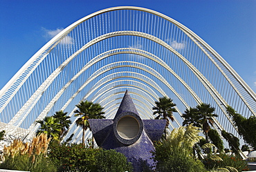 Promenade inside the Umbracle, City of Arts and Sciences, City of Valencia, Spain, Europe