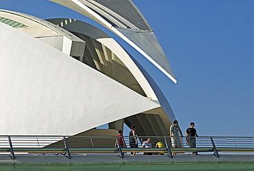 Opera house Palau de les Arts Reina Sofia, City of Arts and Sciences, City of Valencia, Spain, Europe