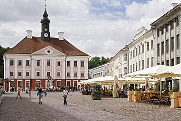 Town Hall Square in Tartu, Estonia, Europe