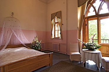 Hotel room in Sangaste Castle, Estonia, Europe