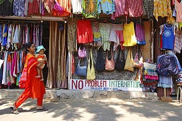 India, Goa, no problem international souvenir stall on palolem beach