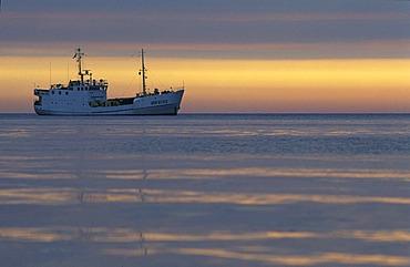 Ship in the morning light