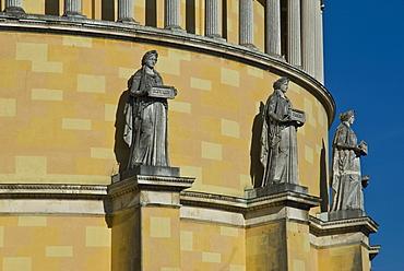 Statues, Walhalla Hall of Fame and Honor, Kelheim, Lower Bavaria, Bavaria, Germany, Europe