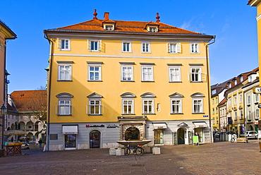 """Building """"Zur Goldenen Gans"""", Klagenfurt, Carinthia, Austria"""