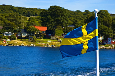 Swedish flag, Hano, Sweden, Scandinavia, Europe