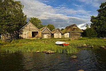Fishing village, Altja, Lahemaa National Park, Estonia, Baltic States, Northeastern Europe