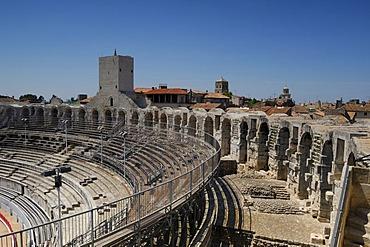 The Roman amphitheatre in Arles, France