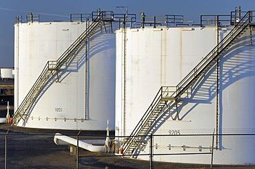 Oil storage tanks, Edmonton, Alberta, Canada