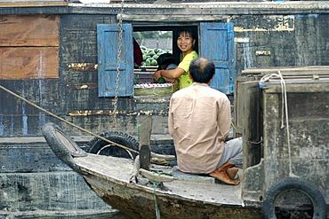 Floating market of Cai Rang Mekong Vietnam