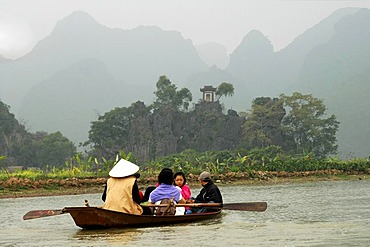 On the Perfume river Vietnam