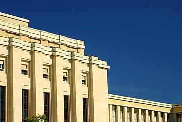 Classical building Palais des Nations Geneva Switzerland