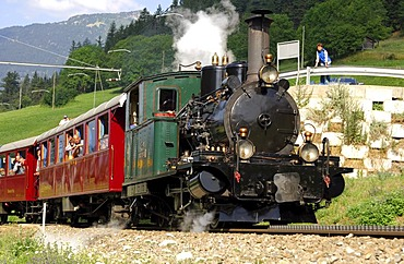 Steam locomotive HG 2/3 1-8 Breithorn, built 1906, Matterhorn Gotthard Bahn, Switzerland