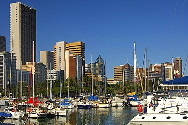 Skyline and Yacht harbour, Durban, South Africa