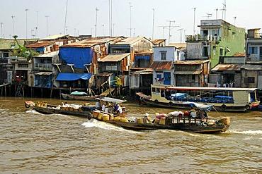 Living at the riverside, MyTho, Mekong Delta, Vietnam