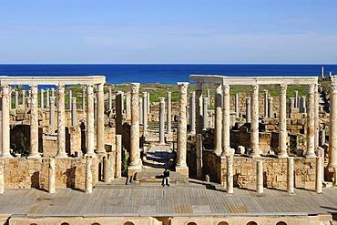Ancient theatre, Roman Ruins, Leptis Magna, Libya