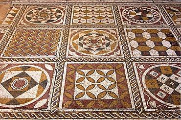 Ancient mosaics, Roman Villa Silini, Villa Sileen, Leptis Magna Libya