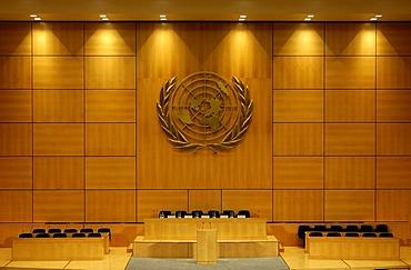 General Assembly Hall, Assemblee generale, UN European Headquarters, Geneva, Switzerland