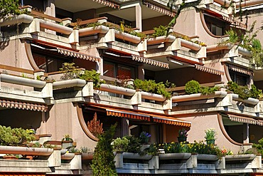Terrace apartments, Montreux, Vaud, Switzerland
