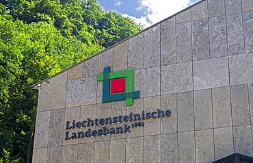 Bank building of Liechtensteinische Landesbank, Vaduz, Principality of Liechtenstein