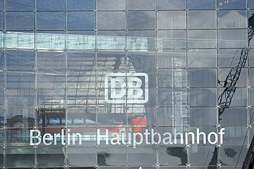 Signature Berlin main station of the German Federal Railroads railways, Lehrter station.