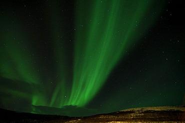 Green Northern light, Aurora Borealis