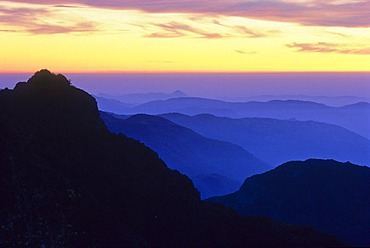 Sunset in Kings Canyon National Park, Sierra Nevada, United States of America
