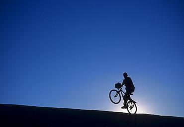 Mountain biker, Slick Rock Trail, Moab, Utah, United States of America