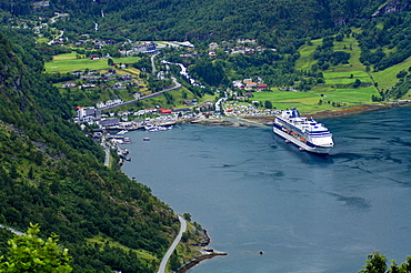 Landing stage of the Geirangerfjord, Norway, Scandinavia
