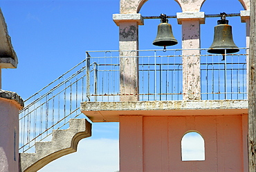 Belfry with stairs, Kefalonia, Ionian Islands, Greece
