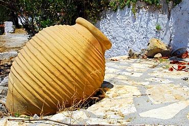 Clay vase, Fiscardo, Kefalonia, Ionian Islands, Greece